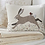 Country style rectangular cushion with tweed hare and robing design, country interiors at Source for the Goose