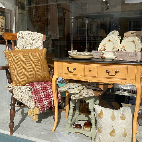 Mustard Yellow Console Table, secondhand and painted furniture at Source for the Goose