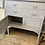 Chalk Painted Grey Gustavian Style Cupboard, secondhand furniture at Source for the Goose, Devon