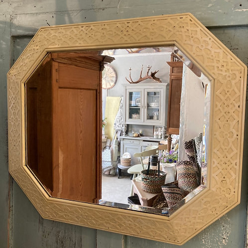Vintage Painted Bevelled Glass Mirror, vintage and secondhand interiors at Source for the Goose, Devon