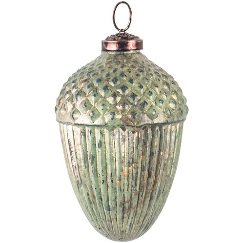 Large Sea Green Acorn Bauble from Grand Illusions at Source for the Goose, Devon