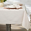 French Limestone Chambray Tablecloth, warm porcelain colour in 100% cotton, homewares at Source for the Goose