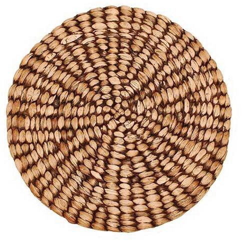 Circular Brown Water Hyacinth Tablemat, interiors at Source for the Goose