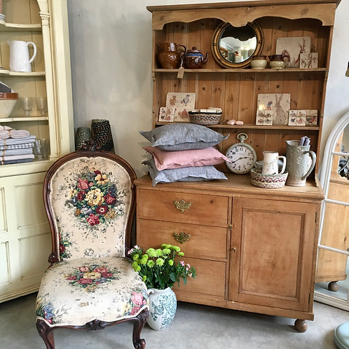 Victorian Stripped Pine Dresser on feet. secondhand furniture and antiques at Source for the Goose