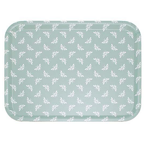 Moss Green Bee Design Tray, homewares at Source for the Goose, Devon