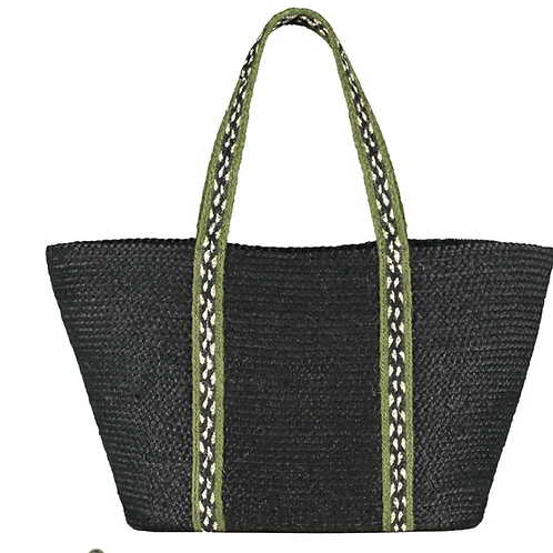 Winter Olive Long Handled Organic Jute Shopper, The Braided Rug Company homewares at Source for the Goose, Devon