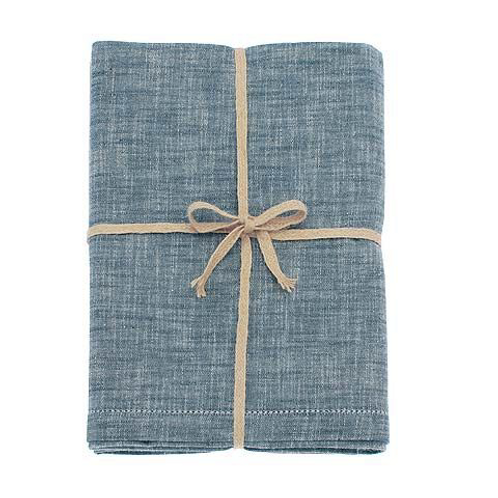Chambray Tablecloth in Flint Blue by Waltons of Yorkshire