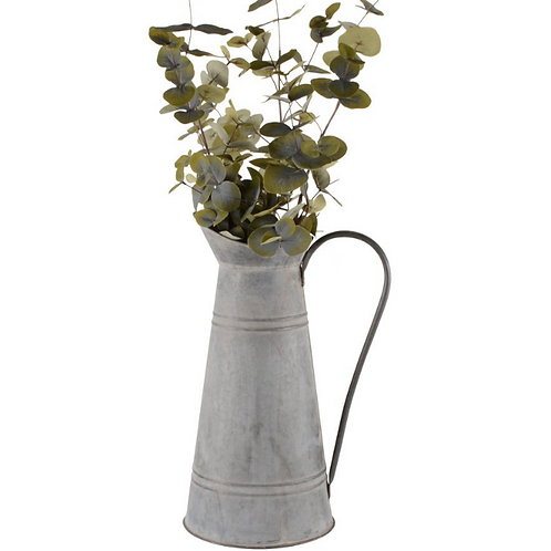 Zinc pitcher for flowers, french style interiors at Source for the Goose