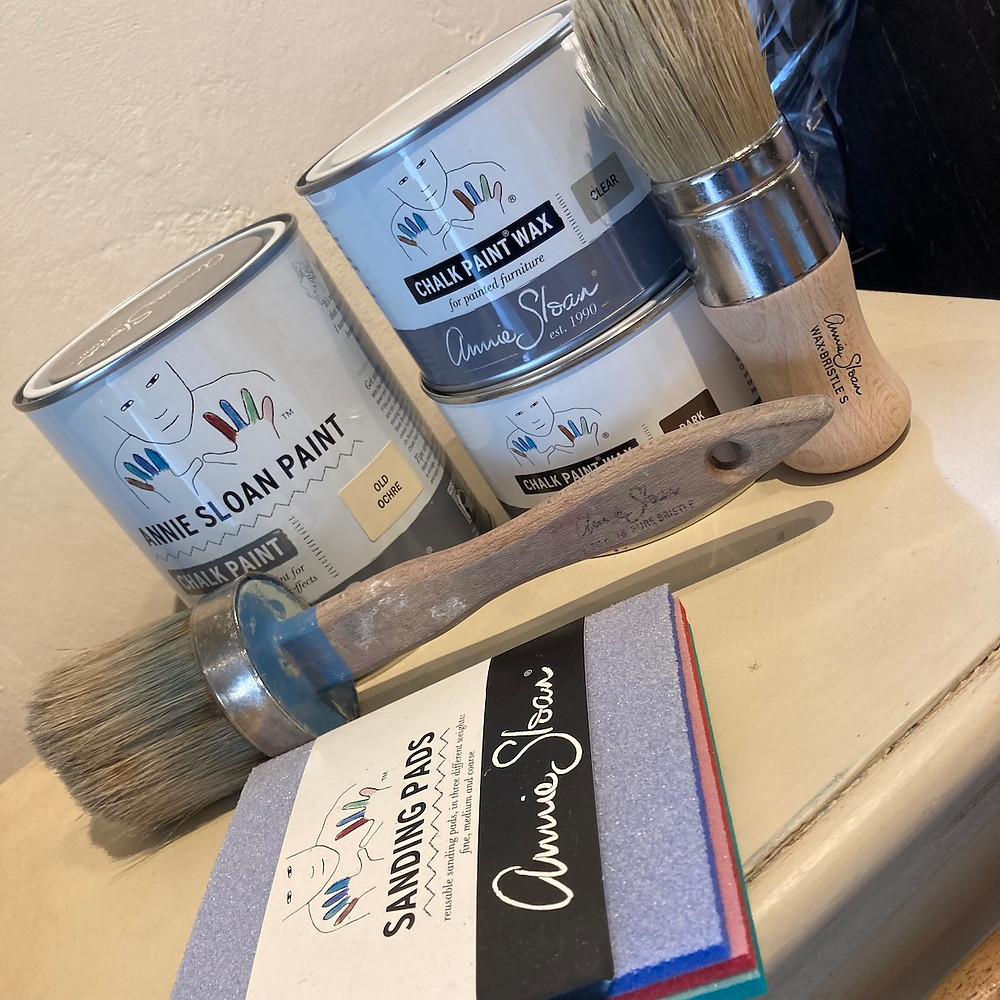 Annie Sloan Chalk Paint, Brushes, Wax and Sanding Pads