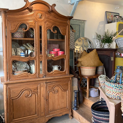 Glazed French Pitch Pine Dresser, vintage furniture at Source for the Goose