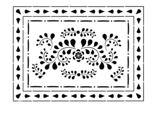 Annie Sloan Faux Bone Inlay Stencil to buy at Source for the Goose