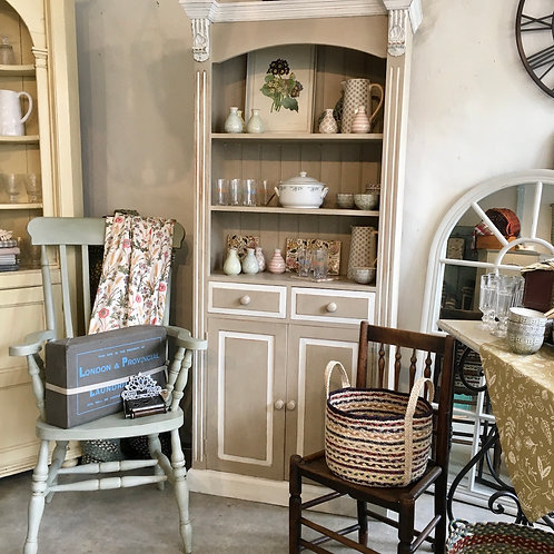 Slim Dresser painted in Annie Sloan Country Grey and Old White at Source for the Goose