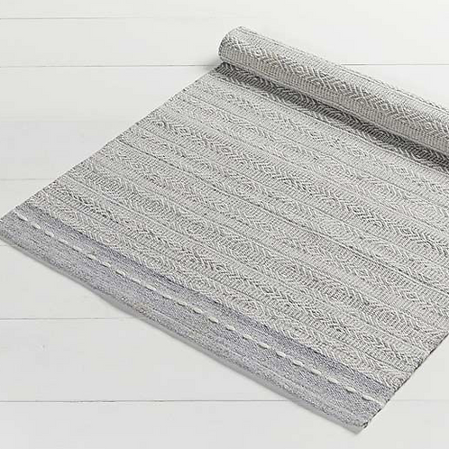 Medium Grey Diamond Weave Recycled Plastic Rug, Waltons of Yorkshire homewares at Source for the Goose