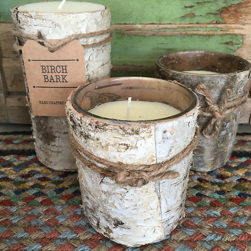 Shabby Chic Birch Bark Candles at Source for the Goose