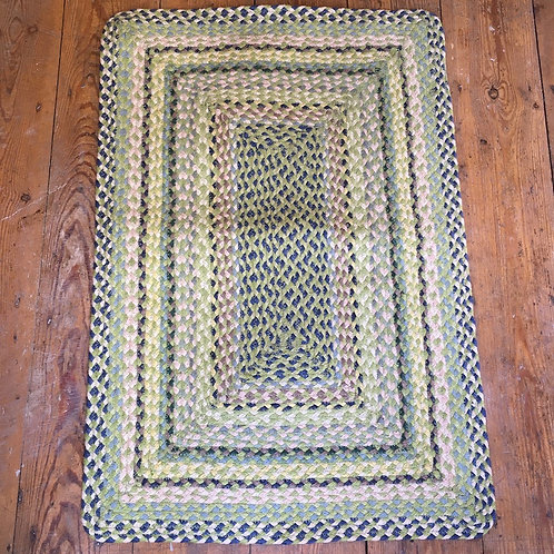 Jute Braided Rug in zesty mint colour way to buy at Source for the Goose