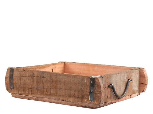 Rustic Wooden Brick Mould Style Tray with Handles
