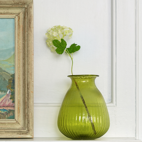 Recycled Green Glass Vase, interiors at Source for the Goose, Devon