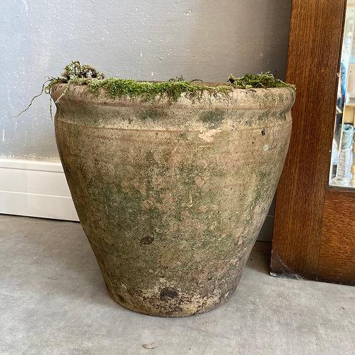 Vintage aged terracotta pot, vintage interiors at Source for the Goose, Devon