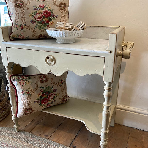 Marble Top Painted Washstand, to buy at Source for the Goose, Devon