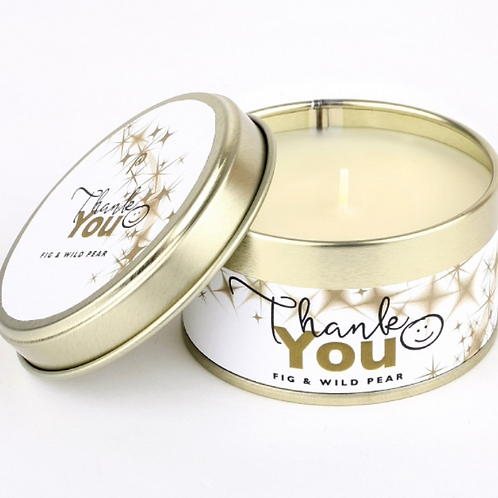 Thank You Fig and Wild Pear Pintail  Candle, homewares to  buy at Source for the Goose, Devon