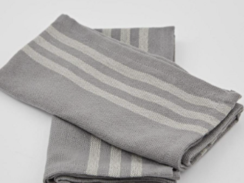 Weaver Green Maxime Grey and Linen Napkins made from recycled plastic bottles