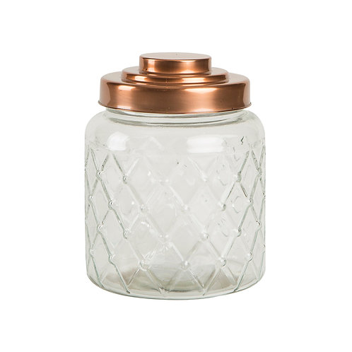 Fat Lattice Jar with Copper Top, interiors and homewares at Source for the Goose, Devon