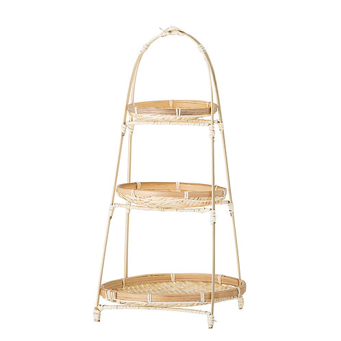 Bamboo three tier etagere, retro style interiors at Source for the Goose, Devon