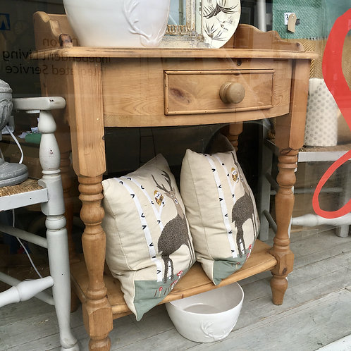 Pine Washstand with Upstand and Drawer, vintage, secondhand furniture at Source for the Goose, Devon