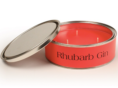 Rhubarb Gin Pintail Candle, British made homewares at Source for the Goose, Devon
