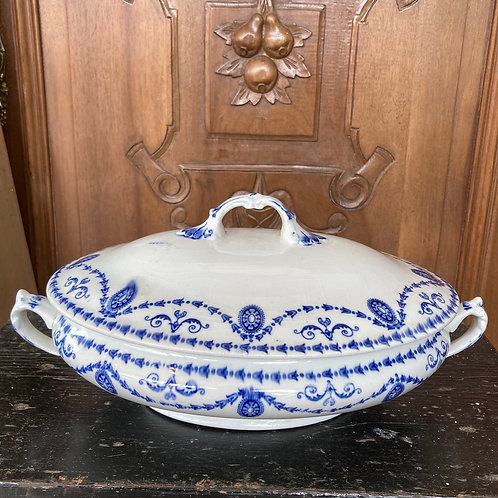 Vintage blue and white tureen, homewares at Source for the Goose, Devon