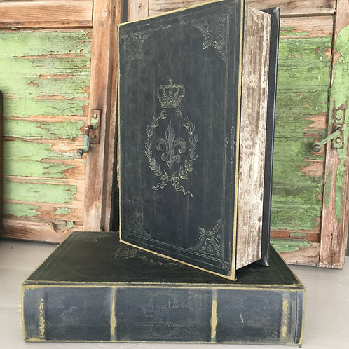 French style book box with Fleur de Lys design at Source for the Goose