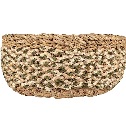 Olive/White Casserole Basket, The Braided Rug Company homewares at Source for the Goose, Devon