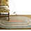 Oval Braided Rug in mix of colours, to buy at interiors at Source for the Goose