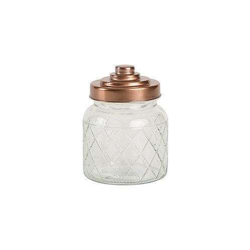 Small Lattice Jar with Copper Top