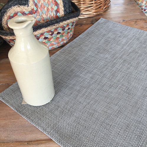 Dark Grey Chambray Wipe Clean placemat to buy at Source for the Goose
