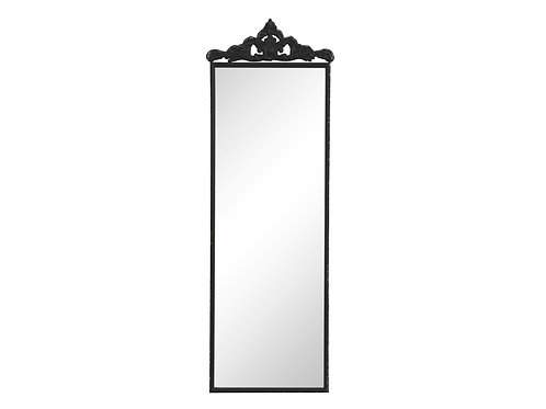 Black framed French style mirror, interiors at Source for the Goose, Devon