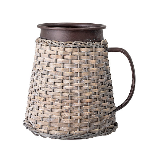 Rustic Rattan Covered Vase , Bloomingville interiors to buy at Source for the Goose, Devon