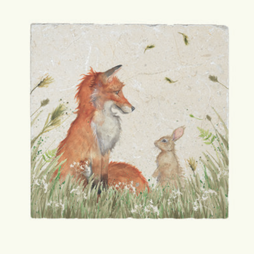 Kate of Kensington Fox and Rabbit Marble Trivet, country style interiors at Source for the Goose