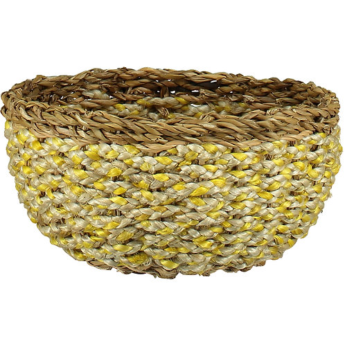 Daffodil Yellow Organic Casserole Basket, Braided Rug Homewares at Source for the Goose