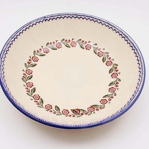 Brixton Pottery Creeping Briar Serving Plate, traditional sponge ware design homewares at Source for the Goose, Devon
