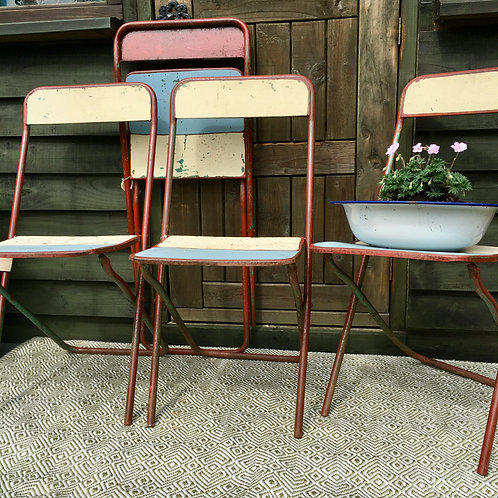 Vintage Second Hand French folding Cinema Chairs at Source for the Goose
