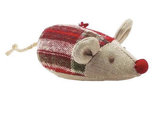 Hanging Tartan Christmas Mouse
