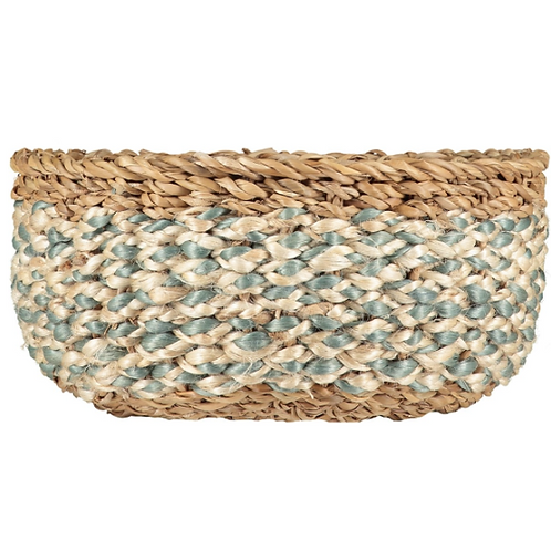 Thistle/White Organic Jute Basket, Braided Rug Homewares at Source for the Goose