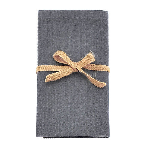 Set of Four Cotton Napkins in Storm Grey, Waltons of Yorkshire homewares at Source for the Goose, South Molton, Devon