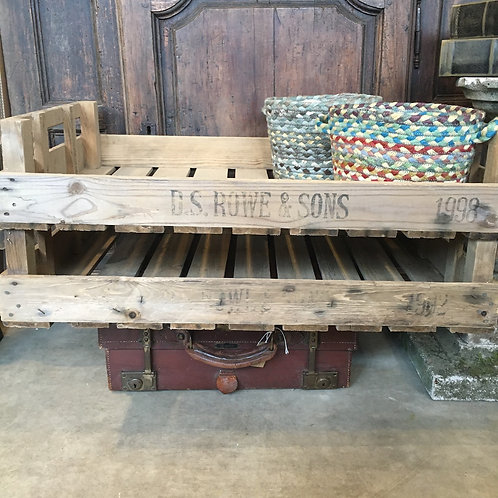 D S Rowe and Sons Vintage Vegetable Crates, rustic garden interiors at Source for the Goose, Devon