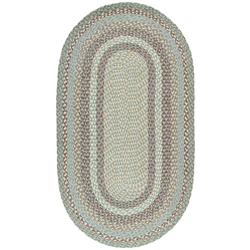 Organic Jute Braided Rug in Seaspray, The Braided Rug Company interiors at Source for the Goose, Devon
