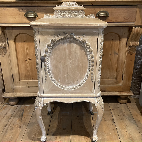 French Style Carved Bedside Cabinet, vintage interiors at Source for the Goose, South Molton