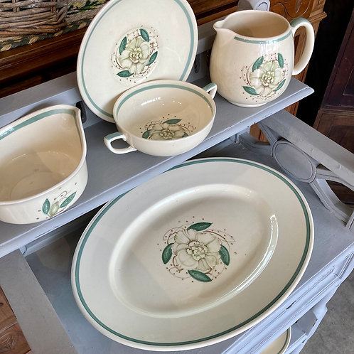 Susie Cooper Gardenia Design Pottery Set, vintage interiors at Source for the Goose, South Molton