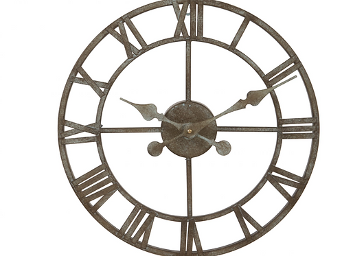 Small Metal Skeleton Clock, vintage style interiors at Source for the Goose