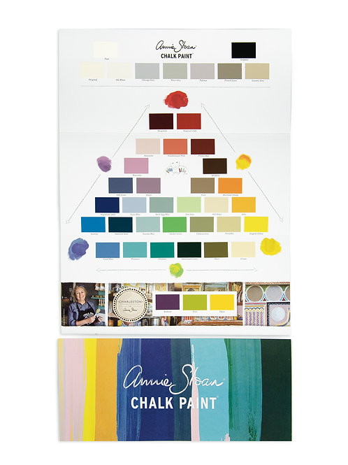 Annie Sloan Chalk Paint Colour Card available at Source for the Goose, Devon